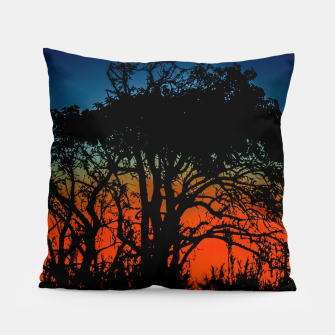 Thumbnail image of Sunset Colorful Nature Scene Pillow, Live Heroes
