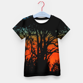 Thumbnail image of Sunset Colorful Nature Scene Kid's t-shirt, Live Heroes