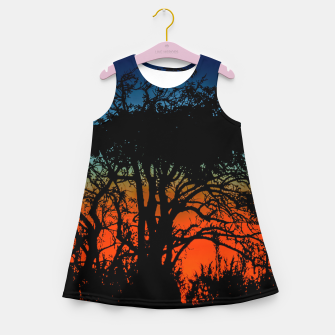 Thumbnail image of Sunset Colorful Nature Scene Girl's summer dress, Live Heroes