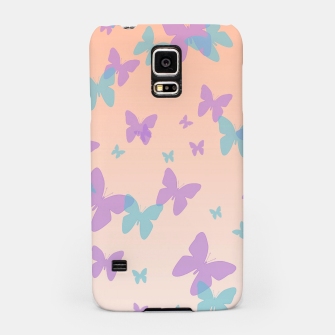 Thumbnail image of Floral lavender and cornflower blue butterflies pattern design Samsung Case, Live Heroes