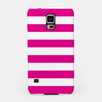 Thumbnail image of Hot pink and white stripes pattern design Samsung Case, Live Heroes
