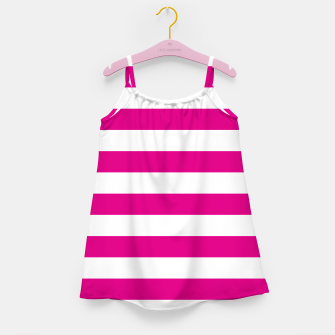 Thumbnail image of Hot pink and white stripes pattern design Girl's dress, Live Heroes