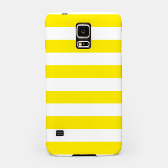Thumbnail image of Yellow and white stripes pattern design Samsung Case, Live Heroes
