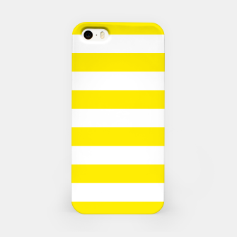 Thumbnail image of Yellow and white stripes pattern design iPhone Case, Live Heroes
