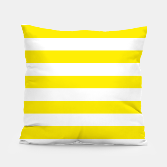 Thumbnail image of Yellow and white stripes pattern design Pillow, Live Heroes