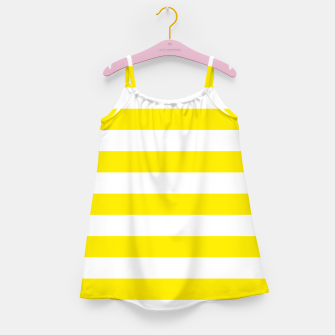 Thumbnail image of Yellow and white stripes pattern design Girl's dress, Live Heroes