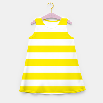 Thumbnail image of Yellow and white stripes pattern design Girl's summer dress, Live Heroes