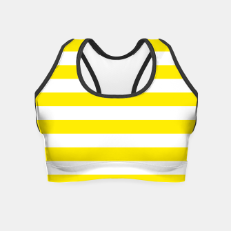Thumbnail image of Yellow and white stripes pattern design Crop Top, Live Heroes