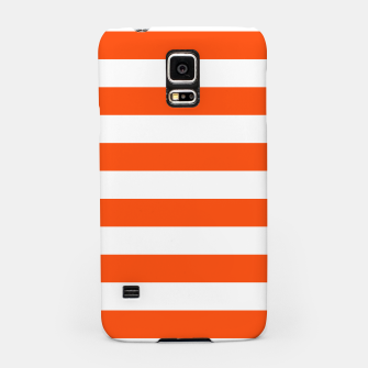 Thumbnail image of Orange and white stripes pattern design Samsung Case, Live Heroes