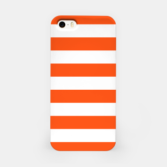 Thumbnail image of Orange and white stripes pattern design iPhone Case, Live Heroes