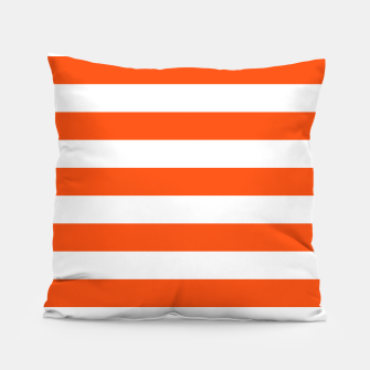 Thumbnail image of Orange and white stripes pattern design Pillow, Live Heroes