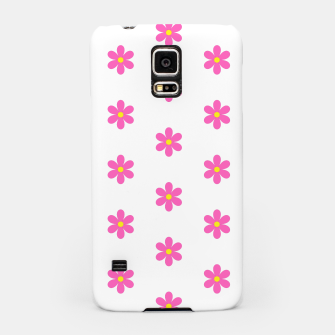 Thumbnail image of Pink flowers pattern design on white Samsung Case, Live Heroes