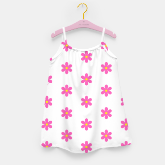Thumbnail image of Pink flowers pattern design on white Girl's dress, Live Heroes