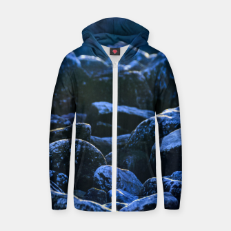 Thumbnail image of Big Rocks Illuminated by Sunlight Zip up hoodie, Live Heroes