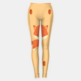 Thumbnail image of Foxes and dots Leggings, Live Heroes