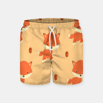 Thumbnail image of Foxes and dots Swim Shorts, Live Heroes