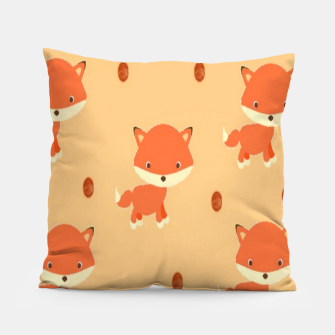 Thumbnail image of Foxes and dots Pillow, Live Heroes
