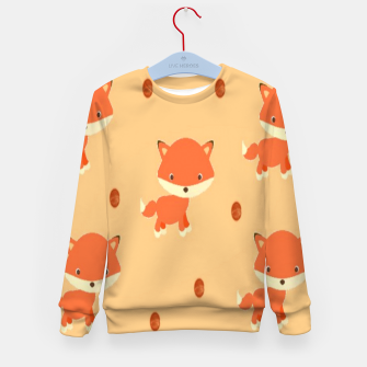 Thumbnail image of Foxes and dots Kid's sweater, Live Heroes