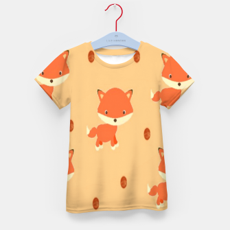 Thumbnail image of Foxes and dots Kid's t-shirt, Live Heroes