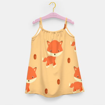 Thumbnail image of Foxes and dots Girl's dress, Live Heroes