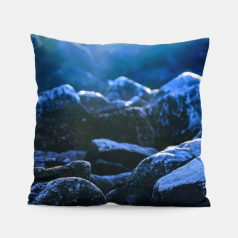 Thumbnail image of Big Rocks Illuminated by Sunlight Pillow, Live Heroes