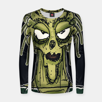 Thumbnail image of Ugly Monster Portrait Drawing Women sweater, Live Heroes