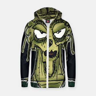 Thumbnail image of Ugly Monster Portrait Drawing Zip up hoodie, Live Heroes