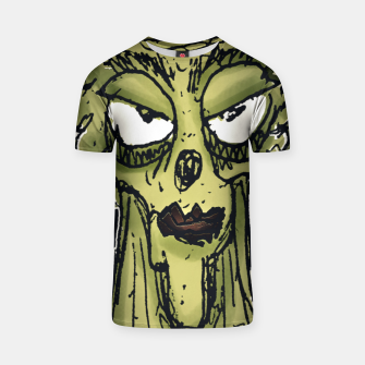 Thumbnail image of Ugly Monster Portrait Drawing T-shirt, Live Heroes