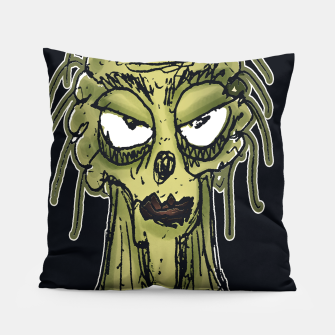 Thumbnail image of Ugly Monster Portrait Drawing Pillow, Live Heroes