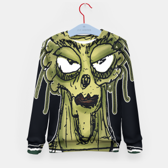 Thumbnail image of Ugly Monster Portrait Drawing Kid's sweater, Live Heroes