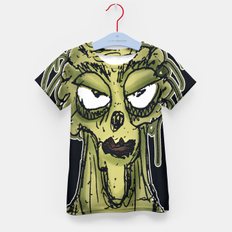 Thumbnail image of Ugly Monster Portrait Drawing Kid's t-shirt, Live Heroes