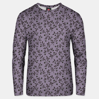 Thumbnail image of Ornate hazel branches in violet Unisex sweater, Live Heroes