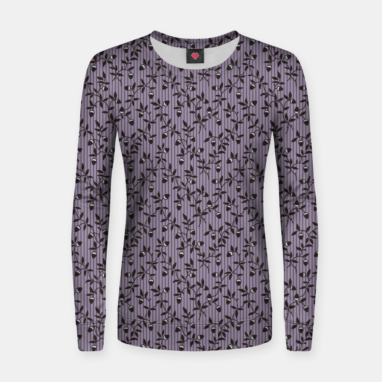 Image of Ornate hazel branches in violet Women sweater - Live Heroes