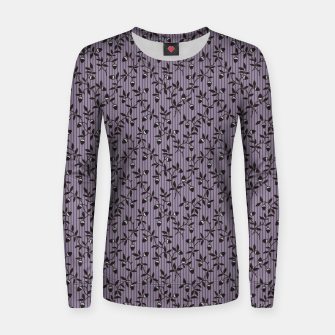Thumbnail image of Ornate hazel branches in violet Women sweater, Live Heroes