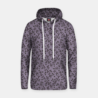Thumbnail image of Ornate hazel branches in violet Hoodie, Live Heroes