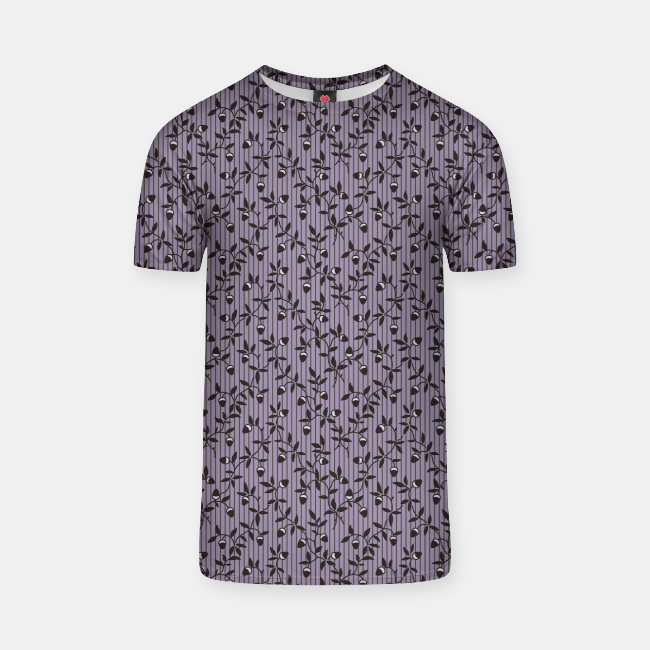 Image of Ornate hazel branches in violet T-shirt - Live Heroes