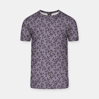 Thumbnail image of Ornate hazel branches in violet T-shirt, Live Heroes