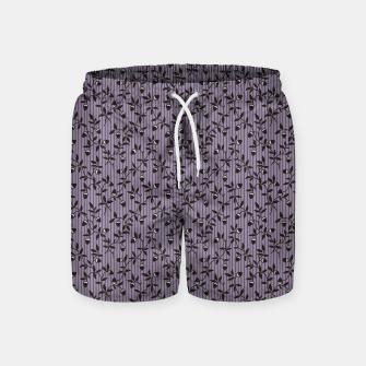 Thumbnail image of Ornate hazel branches in violet Swim Shorts, Live Heroes