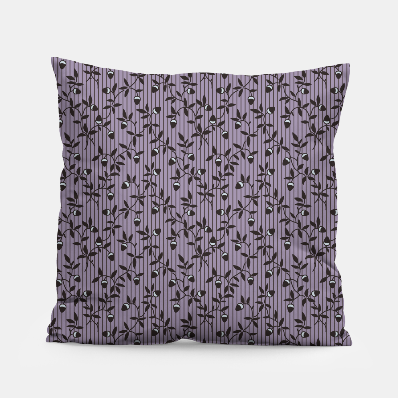 Image of Ornate hazel branches in violet Pillow - Live Heroes