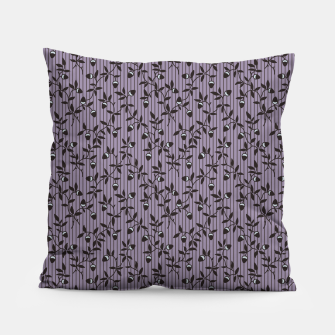 Thumbnail image of Ornate hazel branches in violet Pillow, Live Heroes