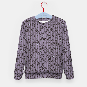 Thumbnail image of Ornate hazel branches in violet Kid's sweater, Live Heroes