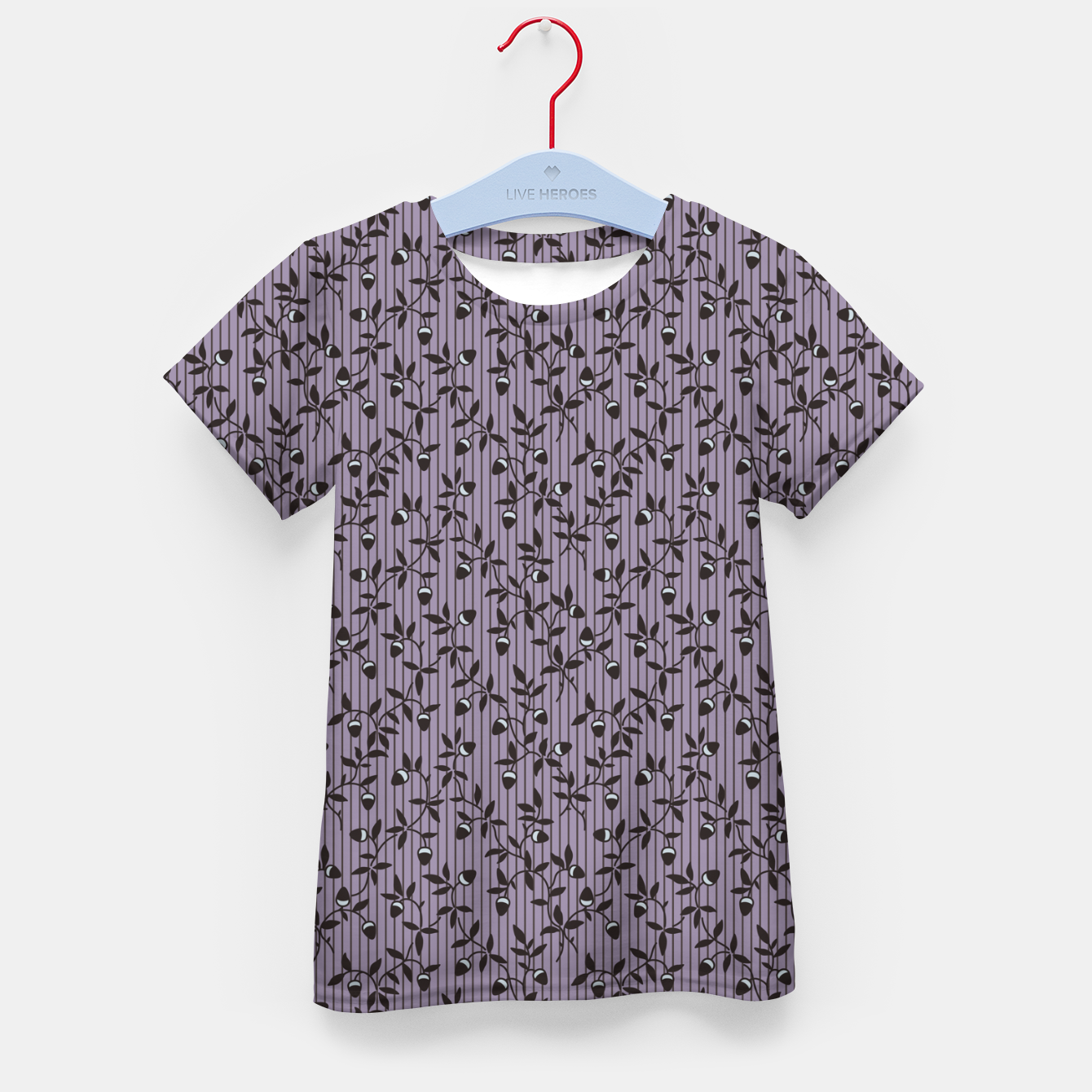 Image of Ornate hazel branches in violet Kid's t-shirt - Live Heroes