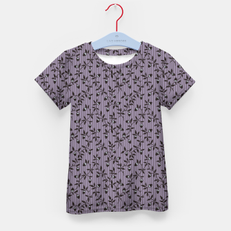 Thumbnail image of Ornate hazel branches in violet Kid's t-shirt, Live Heroes
