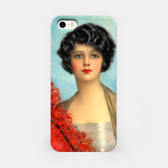 Miniature de image de The Red Feather by Earl Christy iPhone Case, Live Heroes