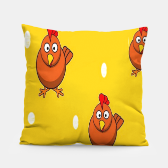 Miniatur Chicken and eggs Pillow, Live Heroes