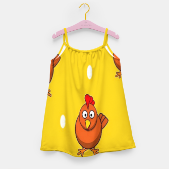 Miniatur Chicken and eggs Girl's dress, Live Heroes