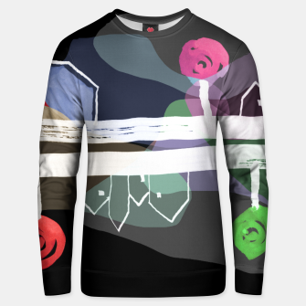 Thumbnail image of  Little Village by the Road Color at Night Unisex sweater, Live Heroes