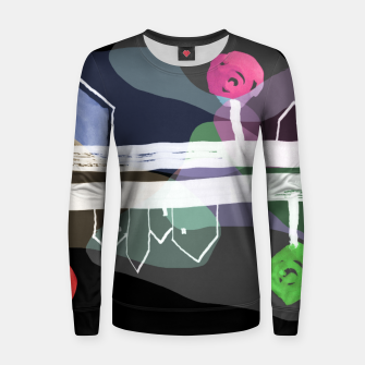Thumbnail image of  Little Village by the Road Color at Night Women sweater, Live Heroes