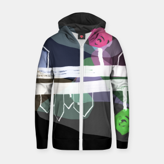 Thumbnail image of  Little Village by the Road Color at Night Zip up hoodie, Live Heroes