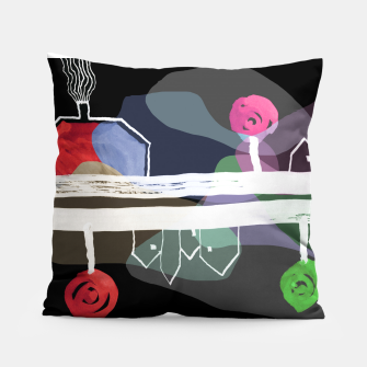 Thumbnail image of  Little Village by the Road Color at Night Pillow, Live Heroes